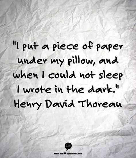 sleep thoreau